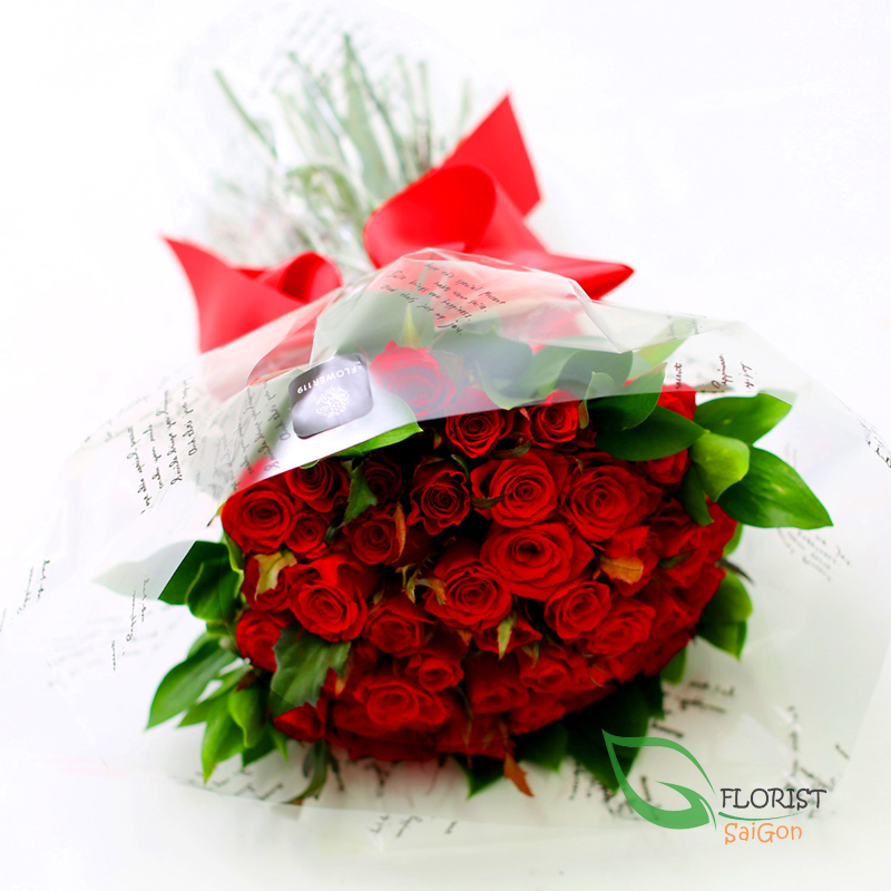 Send red rose bouquet for Valentine's day to Saigon