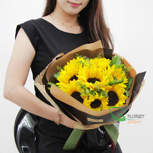 Beautiful sunflower bouquet for her birthday