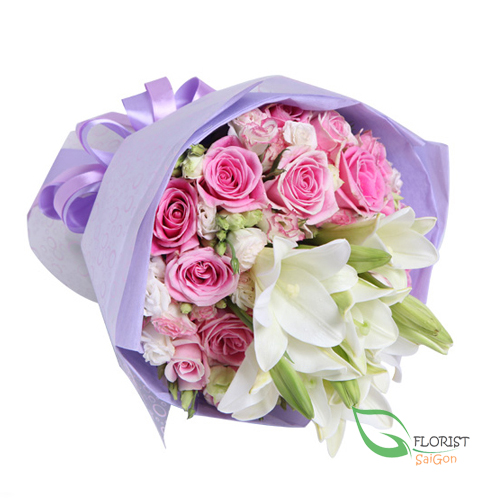 Send beautiful flower bouquet to Saigon
