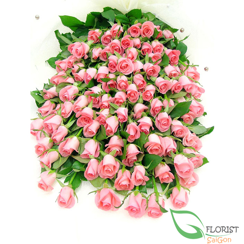 send bouquet of 99 pink roses