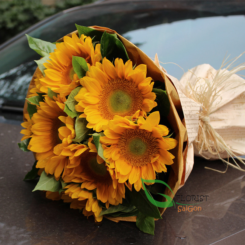 bouquet of sunflower free delivery in saigon