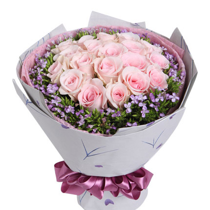 flower bouquet in pink