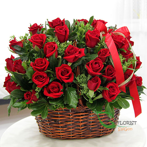 Love romantic from basket flowers free delivery