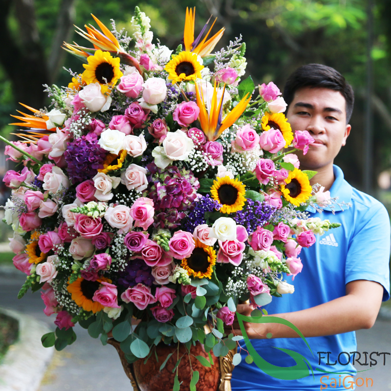 Luxurious flowers in Hochiminh City