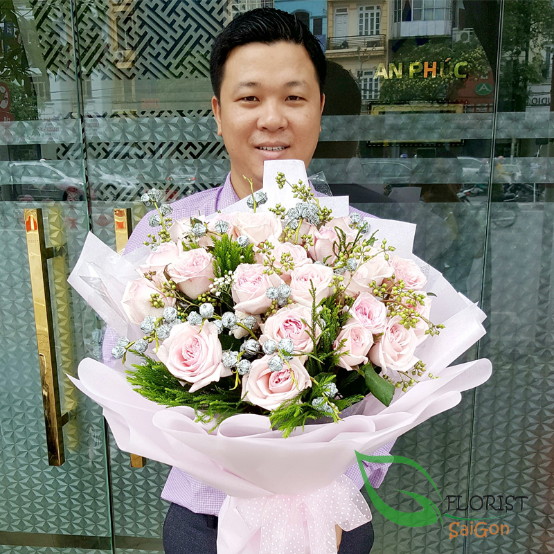 Saigon birthday flowers pink roses free shipping
