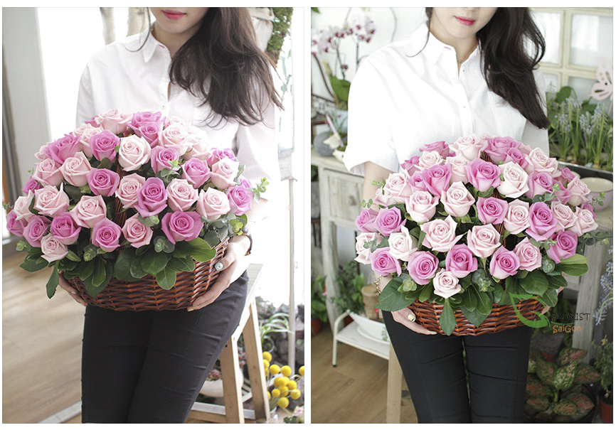 Saigon flowershop free delivery District 7 free shipping