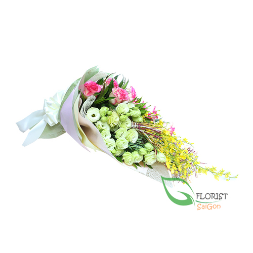 Hanoi love flowers bouquet for wife