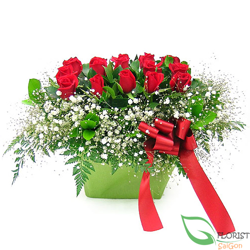 Send love flowers with messages in Saigon